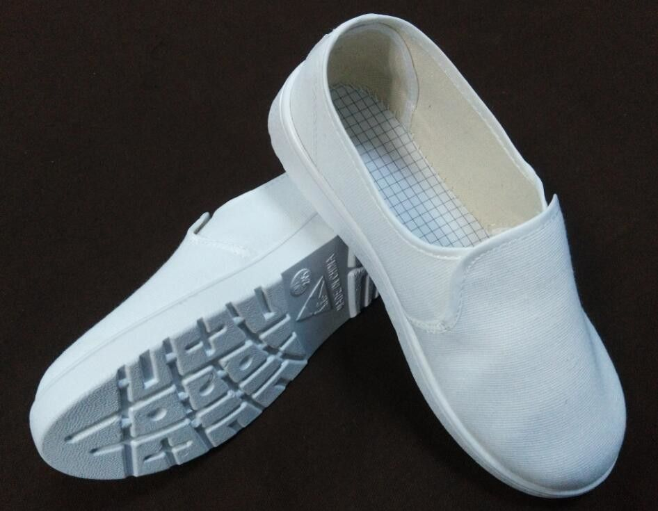 SPU Sole Material Anti Static Safety Shoes , White Canvas Esd Safety Toe Shoes